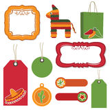Mexican tags Stock Images