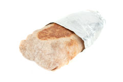 Mexican takeout burrito Royalty Free Stock Image