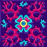 Mexican talavera ceramic tile pattern with corals. Traditional decorative objects. Ethnic folk ornament. Decoration with ornamental flowers vector illustration