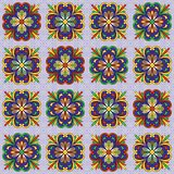 Mexican talavera ceramic tile pattern. Ethnic folk ornament. Italian pottery, portuguese azulejo or spanish majolica stock illustration