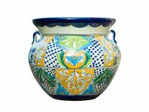 Mexican Talavera Pot Stock Photos
