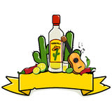 Mexican tequila banner Royalty Free Stock Photography