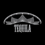 Mexican tequila. In a hat with ornament Royalty Free Stock Photo