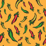 Mexican themed background with jalapeno peppers Stock Photos
