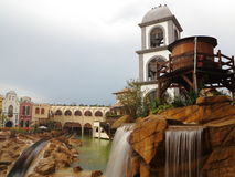Mexican scenery with log flume ride blur Stock Photo