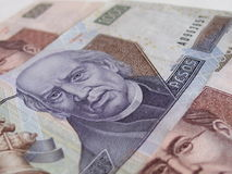 Mexican thousand peso bill. The new thousand peso bill with denomination visible Royalty Free Stock Image