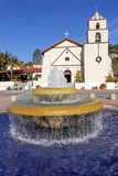 Mexican Tile Fountain Mission San Buenaventura Ventura California Royalty Free Stock Image