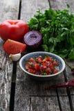 Mexican  tomato salsa sauce Royalty Free Stock Photo