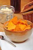 Mexican torilla with home made dip Royalty Free Stock Photography