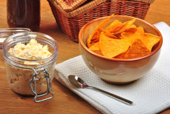 Mexican torilla with home made dip Stock Photography