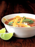 Mexican tortilla soup Royalty Free Stock Images