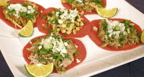 Mexican tortilla tacos Stock Image