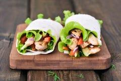 Mexican tortilla wrap Stock Images