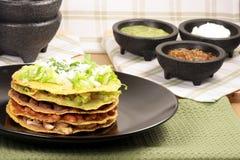 Mexican tostada ahogada stock images