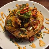 Mexican tostada stack royalty free stock photo