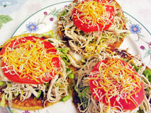 Mexican Tostadas for Dinner royalty free stock photo