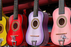 Mexican Toy Guitars Royalty Free Stock Photos