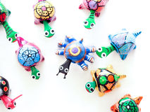 Mexican toy turtles Royalty Free Stock Photos