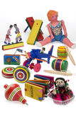 Mexican toys. Set of traditional Mexican wooden toys Stock Photo