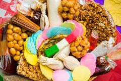 Mexican traditional artisan candies produced by hand stock images