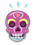 Mexican traditional cartoon skull Royalty Free Stock Images