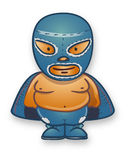 Mexican traditional cartoon wrestler Stock Image