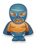 Mexican traditional cartoon wrestler Stock Image