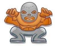Mexican traditional cartoon wrestler Stock Photo