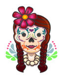 Mexican traditional catrina cartoon Royalty Free Stock Images