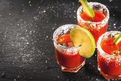 Mexican traditional drink Sangrita Stock Images