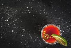 Mexican traditional drink Sangrita Stock Photos