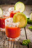 Mexican traditional drink Sangrita Royalty Free Stock Photo