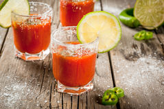 Mexican traditional drink Sangrita Royalty Free Stock Images