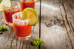 Mexican traditional drink Sangrita Stock Photography