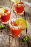 Mexican traditional drink Sangrita Royalty Free Stock Photos