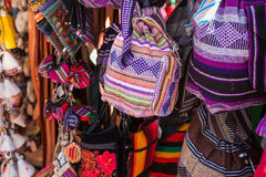 Mexican traditional handmade bags Royalty Free Stock Photos