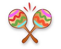 Mexican traditional maracas Royalty Free Stock Images