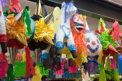 Mexican Traditional Pinata. Mexican Traditional colorful Pinata in San Francisco store Stock Images