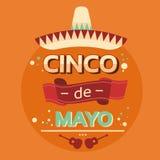 Mexican Traditional Sombrero Guitar, Mexico National Holiday Cinco De Mayo Stock Photos