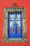 Mexican traditional window Colonial style. In Guanajuato Royalty Free Stock Photos