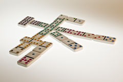 Mexican Train Domino Game Royalty Free Stock Photos