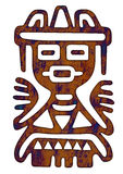 Mexican Pattern - Tribal Man Figure Stock Image