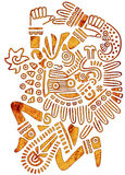 Mexican Pattern - Tribal Man Figure Stock Images