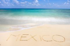 Mexican tropical beach Stock Photos