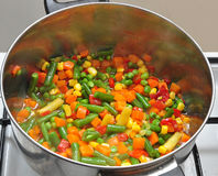 Mexican Vegetable Mix. With beans,peas,corn,pepper,carrots stock photography