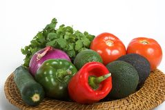 Mexican vegetables. Fresh vegetables for mexican cooking royalty free stock photo