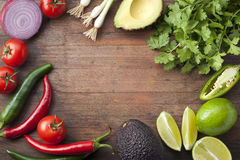 Mexican Vegetables Wood Background Stock Photography