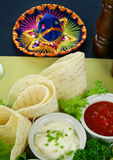 Mexican Vegetarian Platter Stock Images