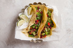Mexican vegetarian tacos Stock Photography