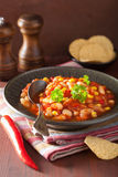 Mexican veggie chilli in plate Royalty Free Stock Photography